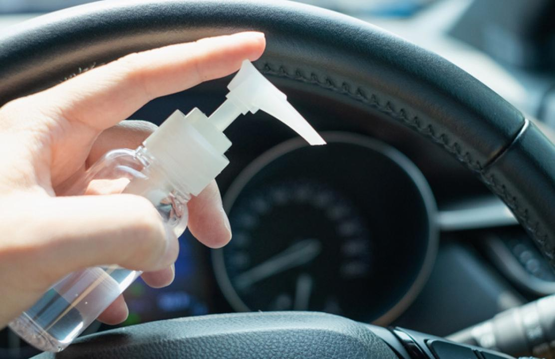 Social media claims that hand sanitizer could spark fire in a car during summers