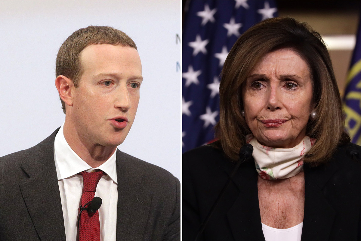 Pelosi menuduh Zuckerberg 'pandering to the White House'