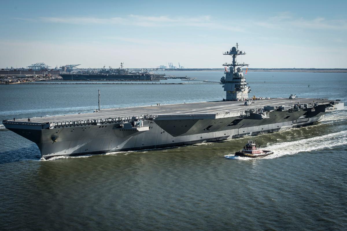Skuadron melepas USS Gerald Ford setelah tes pelaut positif terkena virus corona