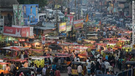 Kota tua Hyderabad, ibukota dan kota terbesar di negara bagian India selatan di Andhra Pradesh.