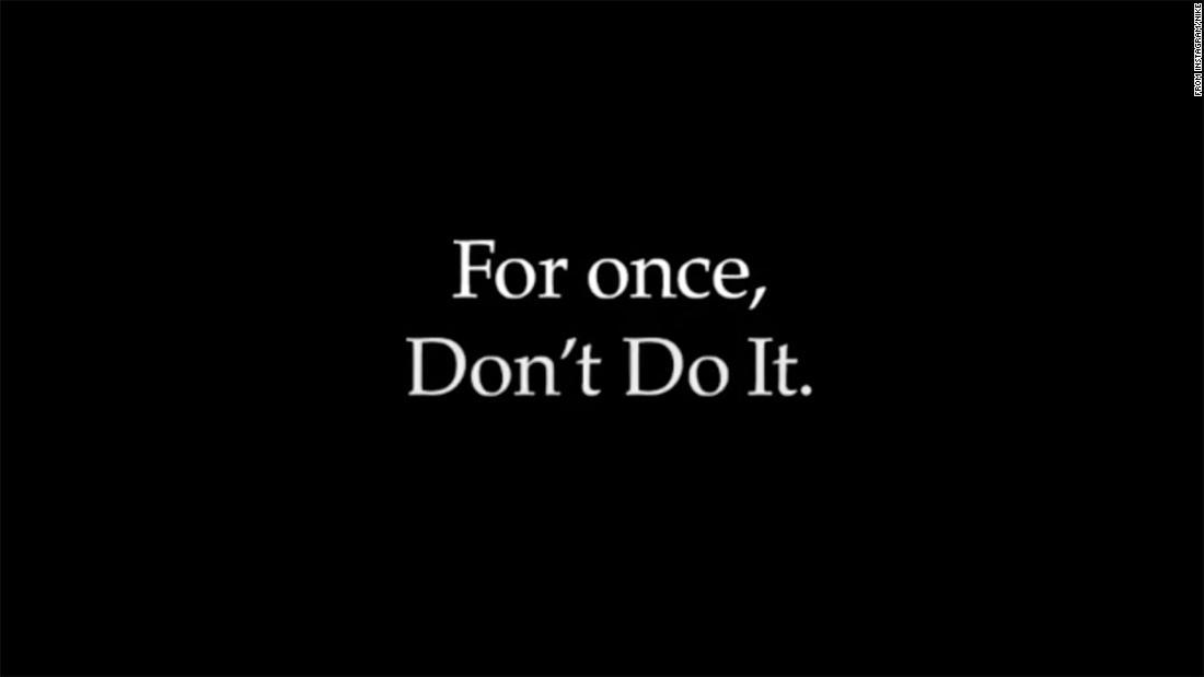 Nike mengatakan 'Don't Do It' dalam pesan tentang rasisme di Amerika