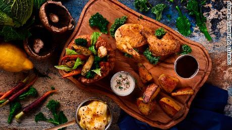 Bread Street Kitchen Gordon Ramsay & amp; Bar memberikan daging panggang ini didekonstruksi.