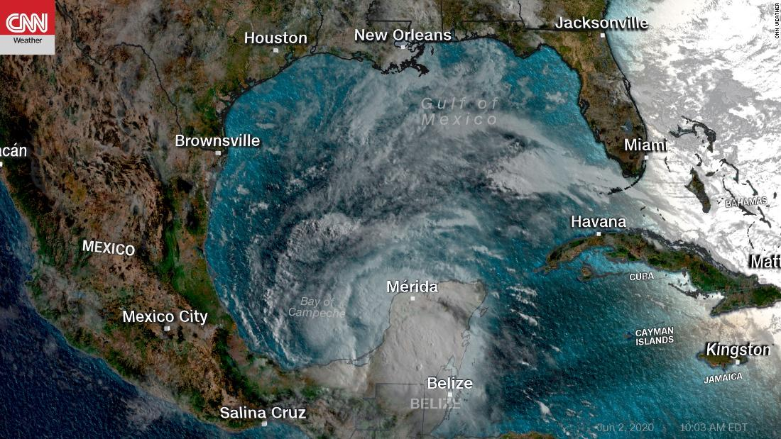 Badai tropis Cristobal menjadi badai Atlantik ketiga paling awal yang tercatat