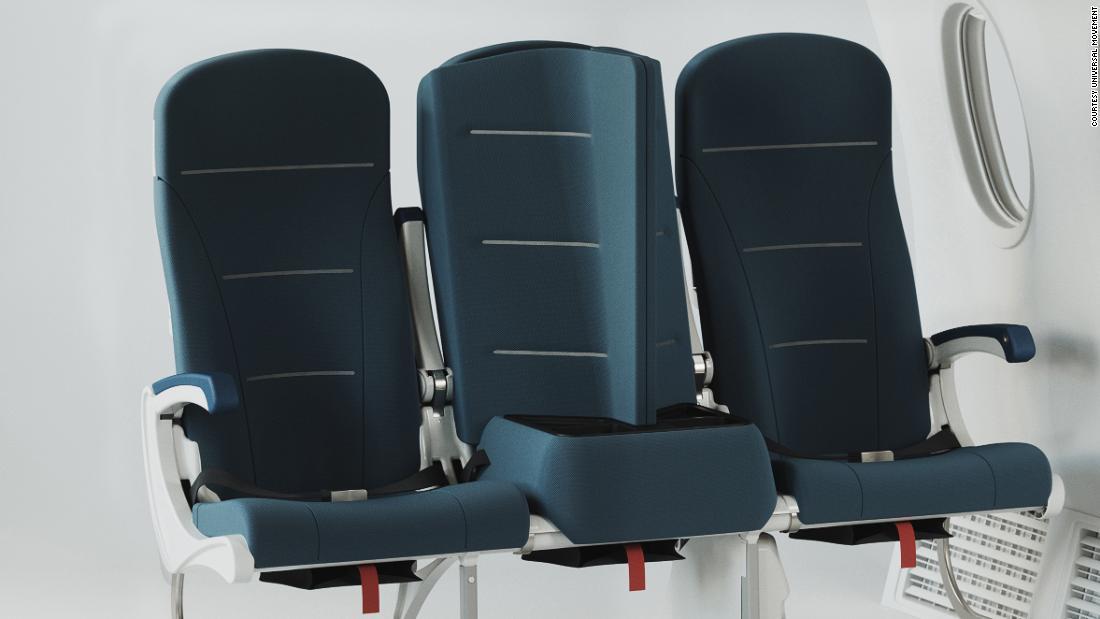 Kursi pesawat berjarak sosial dirancang untuk membuat Anda melupakan pandemi