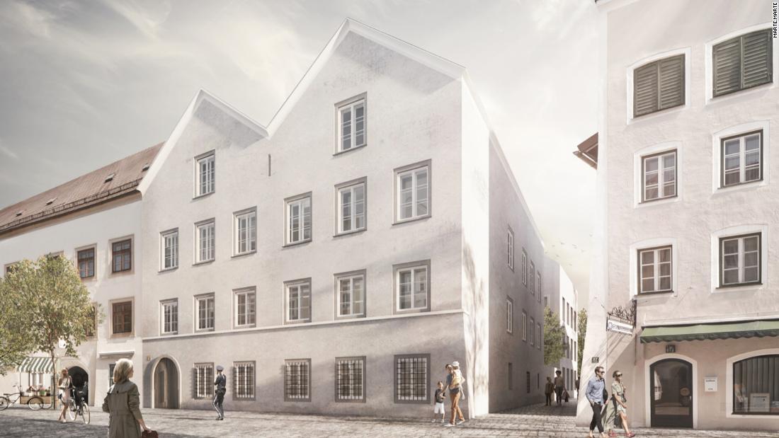 Arsitek Austria mengubah tempat kelahiran Hitler menjadi kantor polisi