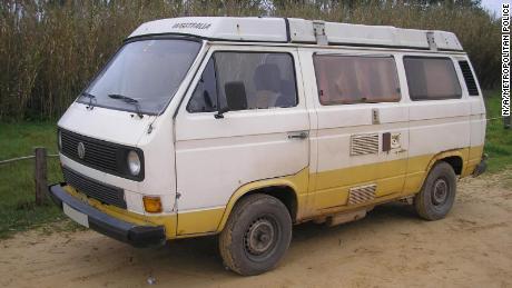 Polisi mengatakan tersangka memiliki akses ke campervan ini dan digunakan di dalam dan sekitar area Praia da Luz.