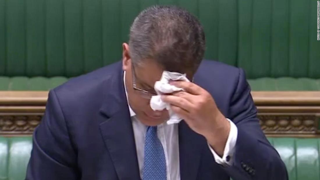 UK Business Secretary Alok Sharma in the House of Commons on Wednesday.