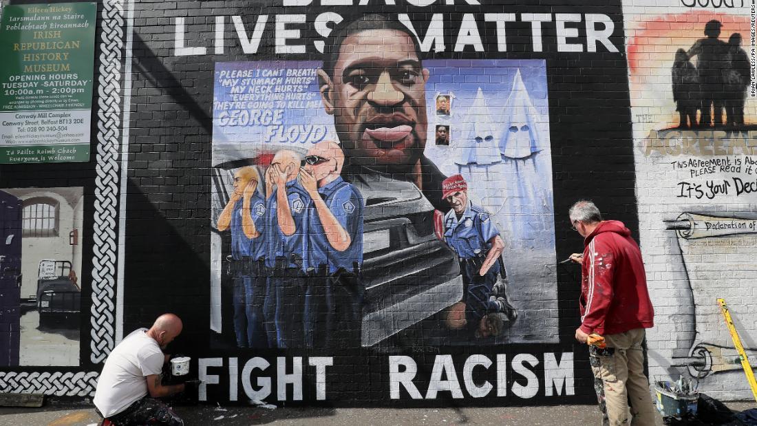 Black Lives Matter memprotes dan upacara peringatan George Floyd