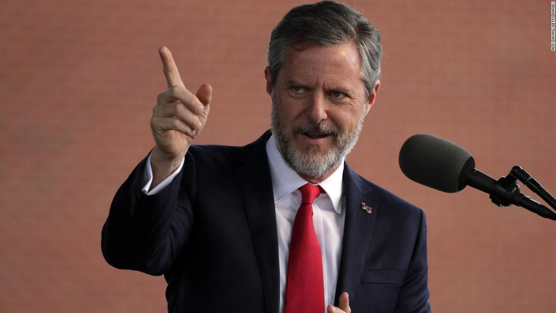 Jerry Falwell, Jr., president of Liberty University, deleted a tweet that featured racist imagery after black alumni and Christian leaders criticized him.