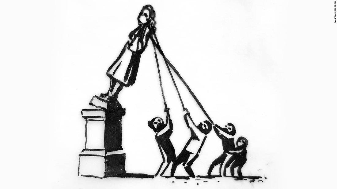 Banksy mengusulkan patung baru yang akan membuat 'semua orang bahagia'