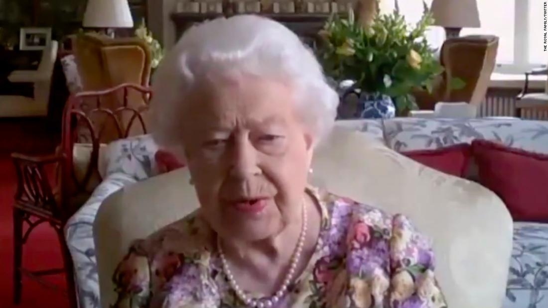 Queen Elizabeth II took part in the video conferencing call to mark Carers Week.