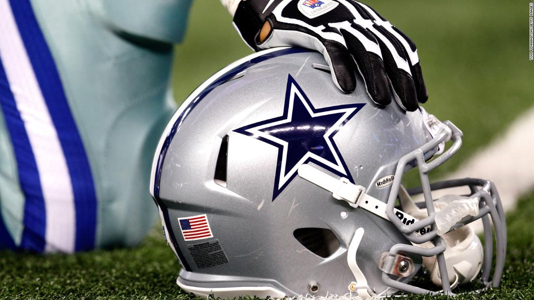 A photo of a Dallas Cowboys helmet before a game against the Philadelphia Eagles at Cowboys Stadium on December 2, 2012 in Arlington, Texas.