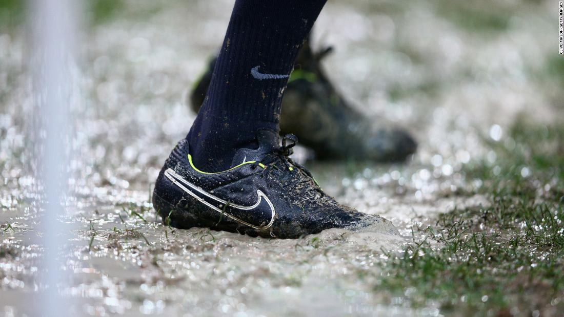 A quarter of English league football grounds can expect stadium flooding by 2050, report authors warned.