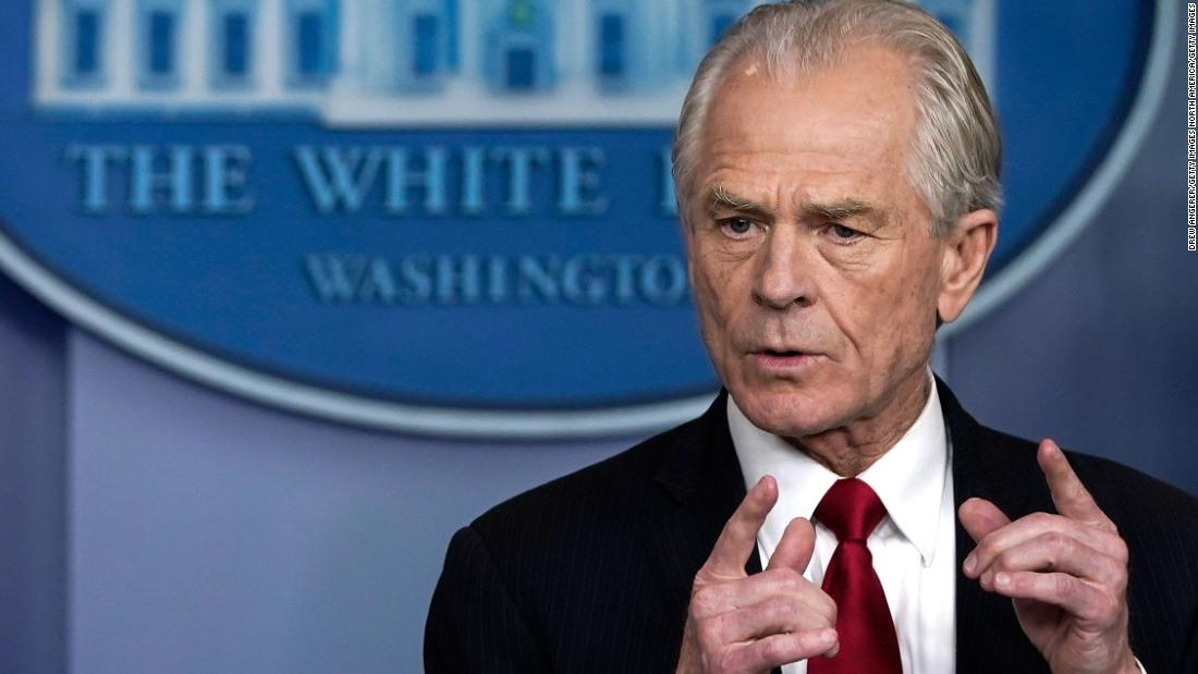 WASHINGTON, DC - MARCH 27: White House Trade and Manufacturing Policy Director Peter Navarro speaks during a briefing on the coronavirus pandemic in the press briefing room of the White House on March 27, 2020 in Washington, DC. President Trump signed the H.R. 748, the CARES Act on Friday afternoon. Earlier in the day, the U.S. House of Representatives approved the $2 trillion stimulus bill that lawmakers hope will battle the economic effects of the COVID-19 pandemic. (Photo by Drew Angerer/Getty Images)