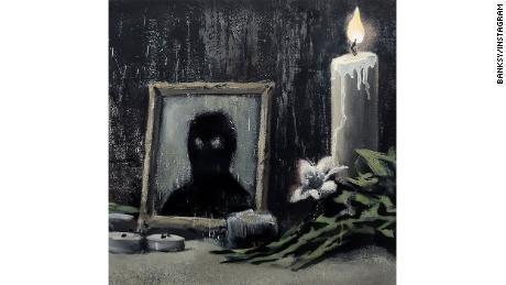 Detail dari karya seni baru Banksy.