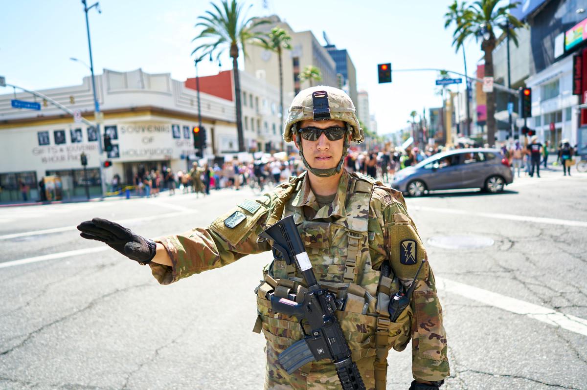 Garda Nasional menarik diri dari LA saat protes berlanjut