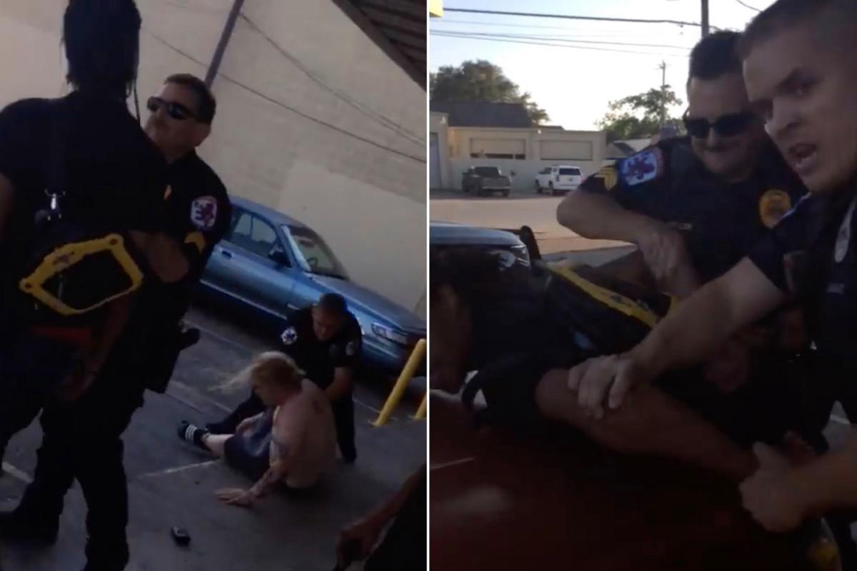 Laki-laki Texas ditangkap karena mengutuk ketika mempertanyakan penangkapan teman
