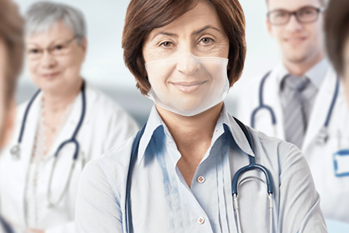 Peneliti Swiss mengembangkan masker wajah transparan