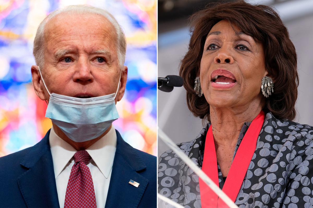 Perwakilan Maxine Waters mendukung Joe Biden sebagai presiden