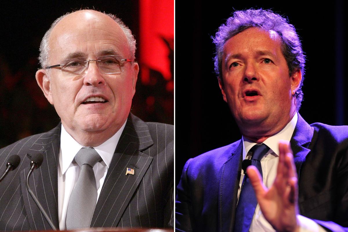 Rudy Giuliani dan Piers Morgan telah memanaskan pertukaran Trump