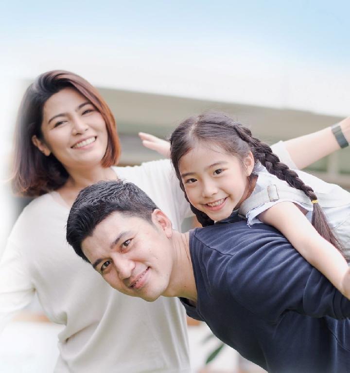 Ilustrasi Anak dengan daya tahan tubuh baik dalam keluarga/Nutriclub